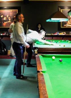 corporate functions action - pool & snooker hall